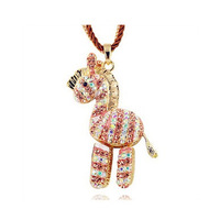 K062 accessories necklace multi-layer small horse fashion design long necklace