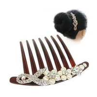Accessories fashion bow hair accessory plate hairpin crystal comb rhinestone hair accessory h001