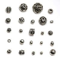 Diy accessories tibetan silver beads beaded materials cardamom antique silver miao silver beads every bead