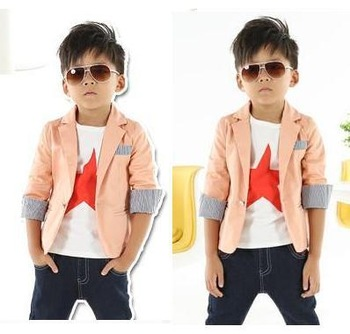 High Quality New 2014 Autumn Fashion Children Outerwear Clothing Blazers Formal Boys Blazers Kids Winter Jackets Cotton