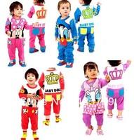 baby romper . new Mickey Minnie Crown leotard ,newborn romper ultra soft cotton Baby girls boys Kids Rompers Bodysuits