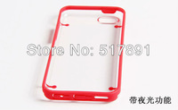 Nightglow lighting Transparent Plastic Case with Colorful Bumper Frame for iPhone 5c