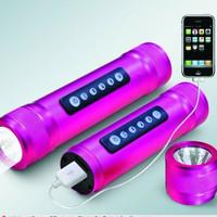 Gx-c09 mobile power speaker mobile phone charge led flashlight mp3 player usbtf card usb flash drive radio