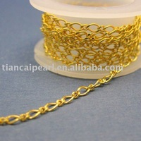 Jewelry chain -2.5x5.5mm Gold Plated Chain - Figure Twisted Jewelry Accessories Findings Fittings