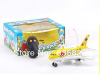 Singapore Post AEROBUS 2CH LIGHT MUSIC REMOTE CONTROL AIRPLANE BIRD PRINT ELECTRIC RC TOY FREE SHIPPING