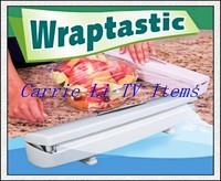 Free Shipping 96pcs/lot Wraptastic As Seen On TV Plastic Food Wrap Dispenser Aluminum Foil Wax Paper Cut