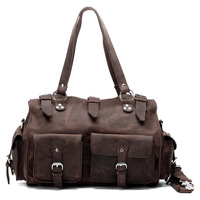 Large Capacity Luggage Travel briefcase Men Tote bag Wild Style Real Leather Vintage Style
