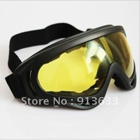 In stock X400 ski glasses&cycling goggles, PC, 100%UVA/UVB protection, ANSI Z87.1 strandard,Yellow