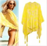 Autumn and winter tassel scarf fluid ultralarge thin silk scarf fashion summer sunscreen cape scarf female