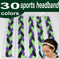 Wholesale 900pcs Baseball sports quad braided mini headband