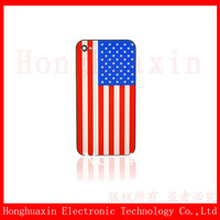 Freeshipping The Fashion USA National Flag Back Cover Housing For iphone 4s ,100% New