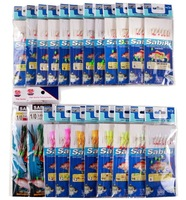 22 Packs Sea fishing pesca sabiki & piscatore rigs baits with barbed hooks G21
