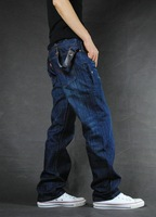 Modern street male jeans buckle the trend of personalized jeans autumn casual nzk