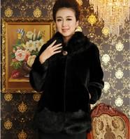 2014 Full Real Coats Regular Covered Turn-down Collar Vest Sfnpc-041 Imitation Mink Marten Overcoat Women's Mother Clothing Coat