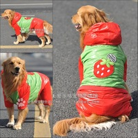 Large dogs pet dog clothes wellsore clothes winter thickening cotton-padded dog jacket down coat