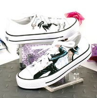 Free shipping 2013 Painted Michael Jackson men and women shoes autumn Vandal Low