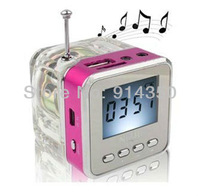 Freeshipping 1pc TT-028 Portable Mini Digital Speaker support TF card and U disk with FM music player Portable audio player