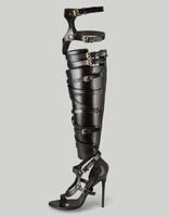 2013 summer high heel gold gladiator sandals boots for women pumps