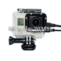 Skeleton Protective Housing with Lens for Gopro HERO 3, Open Side for FPV witout Cable Free Shipping GP29