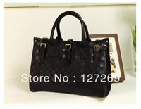 2013 New High Quality Weave Handbag Black Handbag Metal Hasp Shoulder And Totes Dual-use Handbag BG0031 Free Shipping