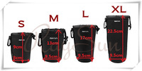 4 size S M L XL Camera Neoprene Matin Soft Camera Lens Pouch Case for Canon Nikon Sony