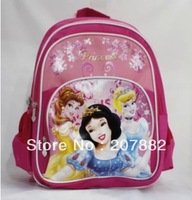 30pcs/lot Fashion Princess Children School Bag Cartoon School Backpack Rucksack Canves A2980 Free Shipping Via DHL