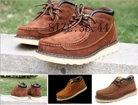 Free shipping,2013 Top quality Original Men Safety Work man shoes hiking shoes leather shoe Matte