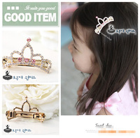 Free Shipping  10pcs/lot gold plated crown tiaras wholesale children Hair  Accessories for kids