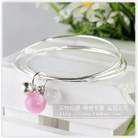 Fashion jewelry pure silver s925 - eye bell ring multi-circle bracelet