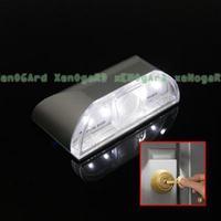 4 LED Battery PIR Infrared Detection Motion Sensor Home Door Keyhole Light Lamp