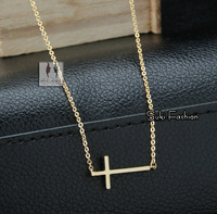 New Arrival Top Quality Classical Gold Stainless Steel Cross Necklace Cross Necklace for women Cross Jewelry Faith Neccklace