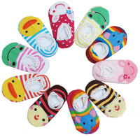 10 Pairs/cartoon Baby shoes Socks Soft Cotton Infant Toddler Baby Boys And Girls Socks/3-36 Months/anti-slip/Wholesale/9 -15 cm