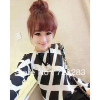 New arrival 2013 women's Spring new fashion print Long sleeve Ms. retro shirt tops