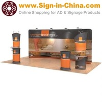 20ftx10ft curved exhibition display system(graphics included)