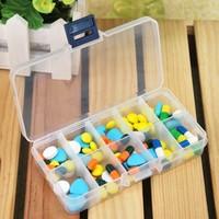 Small 10  case transparent jewelry box kit multifunctional travel storage box 5pcs/lot free shipping