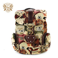 Fre e shpping! 2014 hot sale women's backpacks Danny BEAR fashion preppy style fashion women's leather bags messenger bags