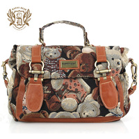 Danny BEAR 2014 new arrival vintage messenger bag personality multi-purpose one shoulder handbag messenger bag db11503