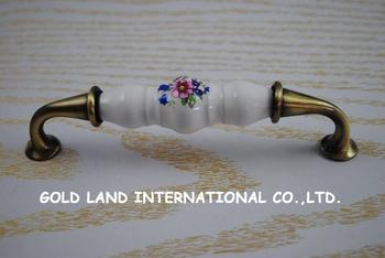 128mm Free shipping ceramic bedroom kitchen door cabinet cupboard drawers handle
