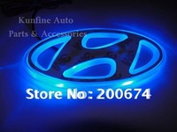 FREE Shipping ! 18months warranty .Car LED Badge, car badge light for Hyundai original badge size of 9.4cm X 4.5cm