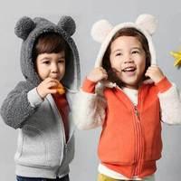 2014 Brand Children's Outerwear Baby Girl Jacket Coat Boy Coral Fleece Thicken Winter Sport Blazers Kids Coats, Free Shipping