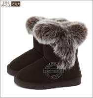 2014 winter children snow boots,Cow split leather, fur, tendon at the end, value for money.size27-35,Free shipping!