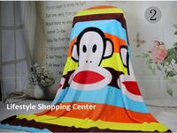 Free Shipping 2013 new Cartoon Blanket good material 2*1.5m kid's blanket bedding
