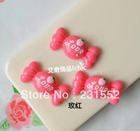 wholesale 50pcs red 31mm kawaii cabochons christmas resin candy charm embellishments diy craft cameo