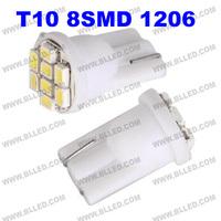 FreeShipping White/Red/blue/green T10 8 LED 3528 LED Light bulbs 192 168 194 W5W 2825 158