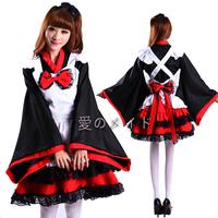 Free Shipping Cheap Kimono Lolita maid anime cosplay  clothes costumes halloween dress