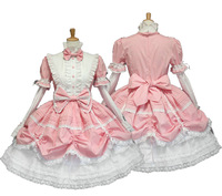 Free Shipping Cheap gorgeous Lolita Princess cosplay dress black and white maid anime clothes Halloween dress