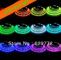 Free shipping 5roll*5m rgb led strip light 5050 smd 60leds/1m(300leds/roll) waterproof IP65 outdoor decoration light for holiday