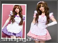Free Shipping CheapPurple Lolita maid anime cosplay clothes princess dress  costume