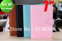 8 colors Universal 7 inch Android Tablet Leather Flip Case Cover 7inch PC Tablet Leather Case