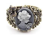 Hot sale! Luxurious Designer Inspired Vintage Crystal hollowed-out work head portrait J.e.w.e.l crew Bracelet